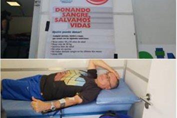 Se realizó un operativo de donación voluntaria de sangre