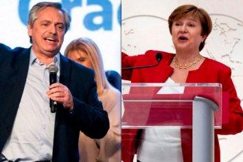 """Alberto Fernández habló con Georgieva y le propuso pagar al FMI, pero """"sin ajuste"""""""