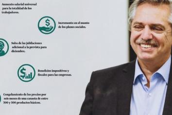 Alberto prepara aumento de salarios, planes y jubilaciones, y congelamiento de precios