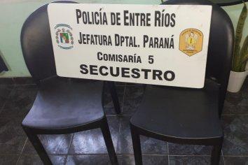 Recuperaron sillas robadas en el club Sportivo Urquiza