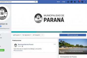 El cambio de gestión en Paraná comenzó en las redes sociales