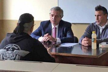 Alberto Fernández fue a la Facultad de Derecho de la UBA a tomar finales