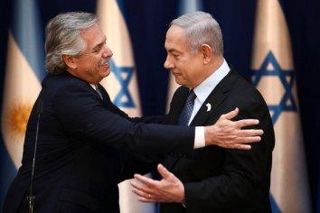 Alberto Fernández se reunió con Benjamin Netanyahu en Israel y ratificó el compromiso de saber qué pasó con el atentado de la AMIA