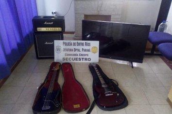 Robaron un tv led y varios instrumentos musicales de una vivienda