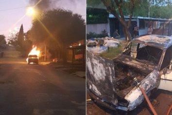 Iba circulando por la calle y se prendió fuego