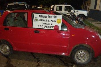 Adolescente fue detenido por andar en un auto sin papeles