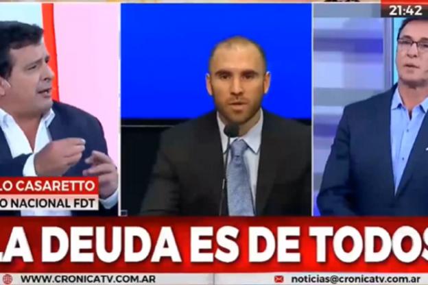 La negociación de la deuda externa, y la presencia del Ministro Guzmán en la Cámara de Diputado