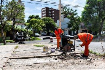 Continúan los trabajos en la obra de calle Cura Álvarez