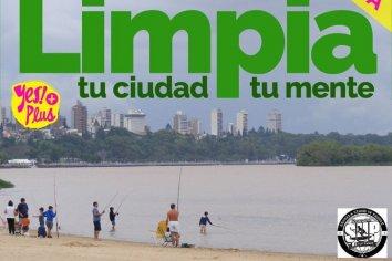 """Jornada de limpieza del río Bajo el lema """" Limpia tu río, limpia tu mente"""""""