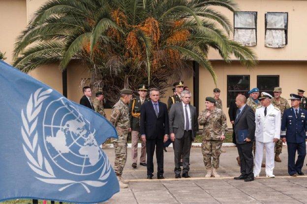El presidente Alberto Fernández despidió al contingente que participará de la misión de paz de la ONU en Chipre