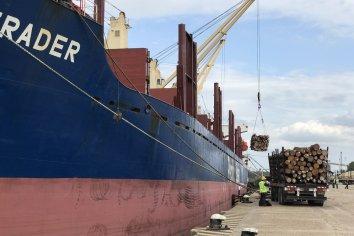 En un marco de estrictas normas sanitarias comenzó la carga de madera en el puerto de Concepción del Uruguay