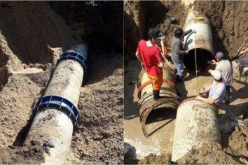 Restringen el servicio de agua por reparación en Hernandarias yBordón
