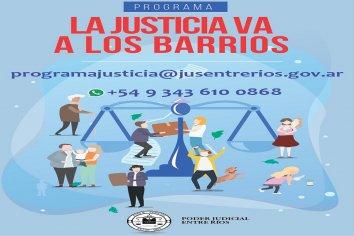"""""""La Justicia va a los barrios"""" en Puerto Curtiembre"""