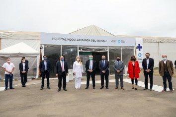 Fernández inauguró obras, recorrió un hospital modular y una fábrica de autopartes