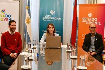 La vicegobernadora coordinó aspectos del Senado Juvenil con senadores y directores departamentales de escuelas