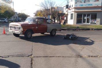 Accidente de transito dejó como saldo un motociclista lesionado