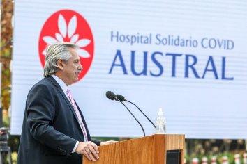 Fernández encabezó la puesta en marcha del Hospital Solitario Covid-19 Austral