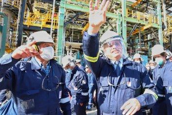 Fernández inauguró la primer planta refinadora de diésel premium del país