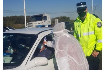 Refuerzan con controles sanitarios el puesto caminero de Paso Cerrito en Chajarí
