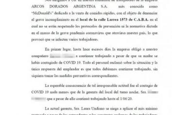 Denunciaron a McDonald´s por obligar a trabajar a empleados con coronavirus en Ciudad