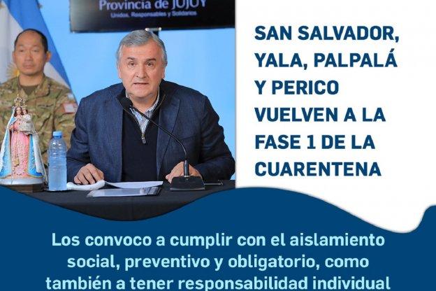 Jujuy da marcha atrás: cuatro ciudades vuelven a fase 1 de cuarentena