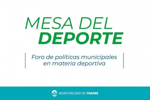Convocan a distintos sectores para construir una nueva política deportiva en Paraná