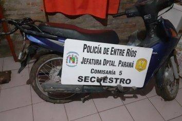 Encontraron una moto que había sido robada