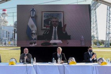 Alberto Fernández inauguró la ampliación de una planta de generación termoeléctrica en Marcos Paz