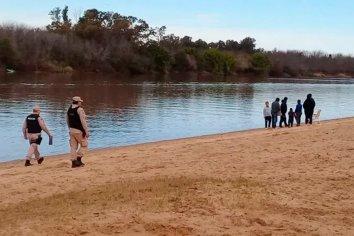 Desalojaron una playa en Concepción del Uruguay