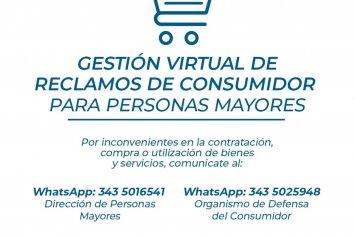 La Municipalidad habilitó líneas de reclamo virtual para personas mayores