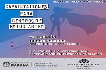 """El Concejo Deliberante Estudiantil realizará una capacitación sobre """"MOTIVACIÓN ORGANIZACIONAL"""""""