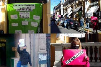 Trabajadores del Hotel Plaza Jardín se manifestaron pidiendo ayuda del Estado