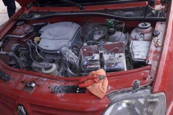 Un automóvil sufrió principio de incendio en plena marcha
