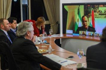 Gustavo Bordet ratificó su apoyo y compromiso con Alberto Fernández