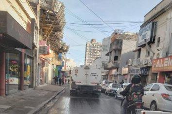 El municipio continúa con la desinfección de las calles paranaenses
