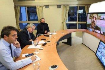 Fernández mantiene una reunión con legisladores de Juntos por el Cambio