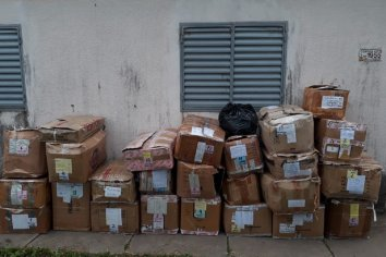 Localizaron 20 cajas de ropa robadas del depósito de la empresa Balbi