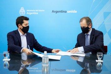 Bordet firmó con el ministro del Interior el convenio para la pavimentación de la ruta 23