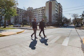 Bahl dejó formalmente habilitado el tránsito en calles 25 de Mayo y Cura Álvarez