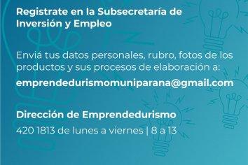 Abrieron la inscripción a emprendedores en la Subsecretaría de Inversión y Empleo