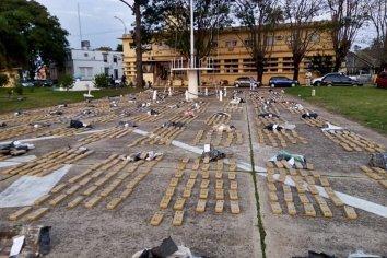 Prefectura incautó dos mil kilos de marihuana en un allanamiento en Concordia