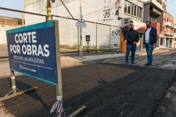 La Municipalidad realizó tareas de bacheo este domingo