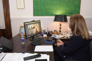 Integrantes de la Sala Penal del STJ mantuvieron una reunión con la ministra de Gobierno