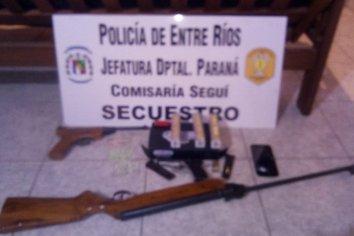 Allanamiento con secuestro de armas y cartucheria