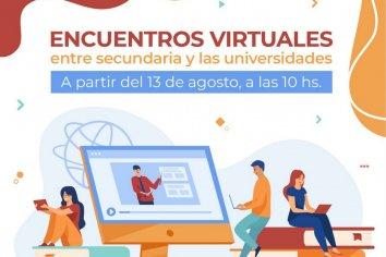 Encuentros virtuales entre secundaria y las universidades