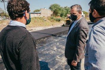 Finalizan la pavimentación en Barrio 240 Viviendas
