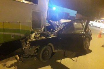 Violento accidente en Calle Don Bosco y Roque Saenz Peña, el conductor debió ser hospitalizado