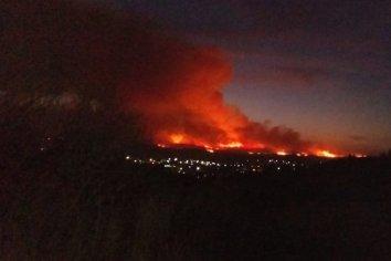 """""""El incendio está descontrolado, en La Falda"""" dijo Mehaudy"""