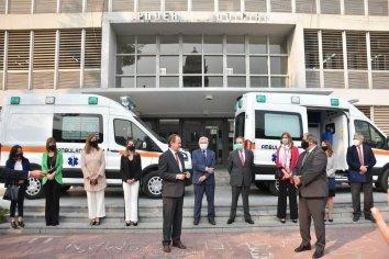 Fondo Solidario Judicial: se entregaron dos nuevas ambulancias