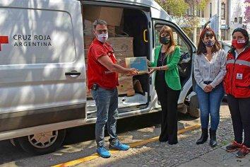 La Cruz Roja Argentina donó insumos sanitarios